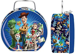 FF 5 Inches Small Toy Story 4 Semi Round Tin Box with Clasp & Handle