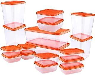 AMAYGA 17 PCS/Set Kunststoff Lebensmittel Aufbewahrungsbox versiegelt Frischeres..