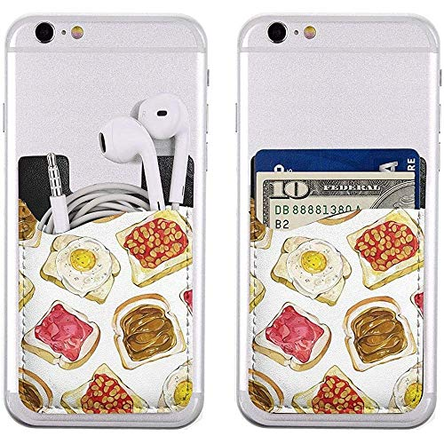 Inner-shop Telefoonkaarthouder Heerlijk Brood SliceAdhesive Stick-on ID Credit Card Portemonnee Telefoonhoesje Buidelzak Pocket Compatibel