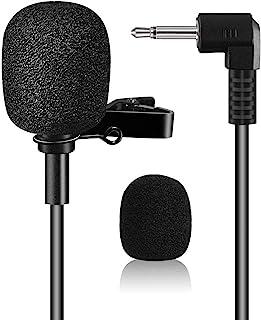 "EXMAX Pro Black Micro Mini Lavalier Lapel Tie Clip-on 1/8 ""(3.5mm) میکروفن یقه کندانسور برای سیستم کمربند بسته کمربند ، تقویت کننده صدا ، معلمان ، بلندگوها ، مربیان ، ارائه ها ، راهنماهای تور"