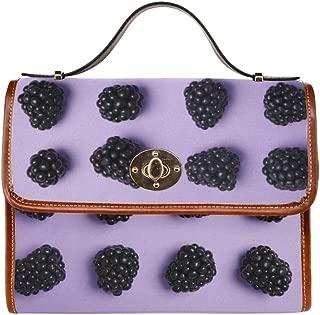 Crossbody Shoulder Bags Blackberries Fresh Fruit Women Crossbody Satchel Bag Tote Shoulder Bag Handbags For Girl Lady Travel Work Shopping Medium Crossbody Bags For Women