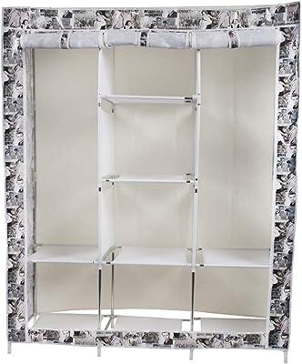 Maison & Cuisine Foldable Wardrobe 6+2 Racks 125X43X165 cm (88130-2) Multicolor