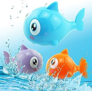 PULABO Divertido modelo de pez de dibujos animados de tiburón de baño reloj de juguete de plástico de viento para niños re...