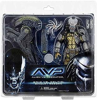 """NECA Aliens vs. Predator AvP Celtic Predator & Battle Damaged Grid Alien """"Rivalry Reborn"""" Action Figure 2-Pack"""