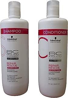 Schwarzkopf Bonacure Repair Rescue Shampoo and Conditioner Liter Duo Set 33.8 Oz