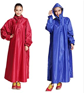 NYDZDM Electric Battery Car Raincoat Adult Hiking Increase Motorcycle Female Single Bicycle Sleeved Riding with Sleeve Poncho (Color : Sky Blue)