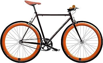 Bicicleta naranja FIX 2.  Fixie de una velocidad / una velocidad.  Talla 56