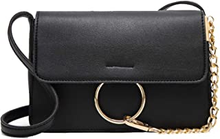 Fine Bag/Women's Shoulder Bag Retro Magnetic Buckle Chain Small Square Bag Casual Wild Crossbody Bag Dating Party (Color : Black, Size : 21 * 6 * 15cm)