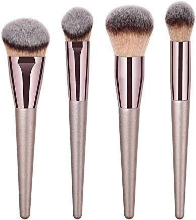 Brochas para Maquillaje Facial, Everpert Brocha de Maquillaje, Profesional Mango de Madera Belleza Pinceles de Maquillaje, 4pcs (4pcs) (4pcs)