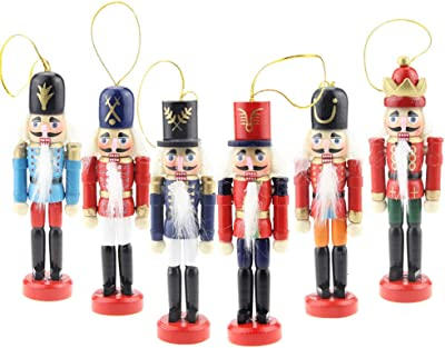 """jghjgjhf Nutcracker Figures Soldier Doll Figurine Collection Wooden Puppet Occasion Ornament Decoration for Home 