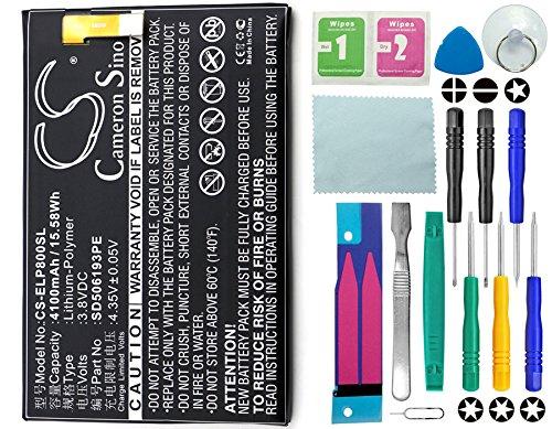 Cameron Sino–Batería, 4100mAh Li-Ion compatible con [Elephone] P8000, sustituye a [Elephone] SD506193pe con 14en 1Set de herramientas de reparación Kit