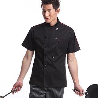 SM SunniMix Men Women Chef Uniform Work Wear, Cotton Short Sleeve Cooking Shirt Chefs Jacket Tops -Cool Vent