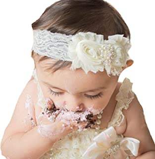 Lebo Baby Girl Lace Headbands with Bows