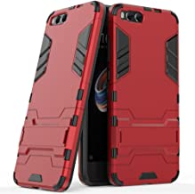 Case for Xiaomi Mi Note 3 (5.5 inch) 2 in 1 Shockproof with Kickstand Feature Hybrid Dual Layer Armor Defender Protective Cover Red MJtm1