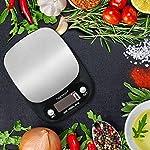 Balance de Cuisine Electronique Balance de Precision 10kg/1g Hanmir Balance Numérique Cuisine de Haute Précision Acier Inoxydable Écran LCD Rétroéclairé Noir #3