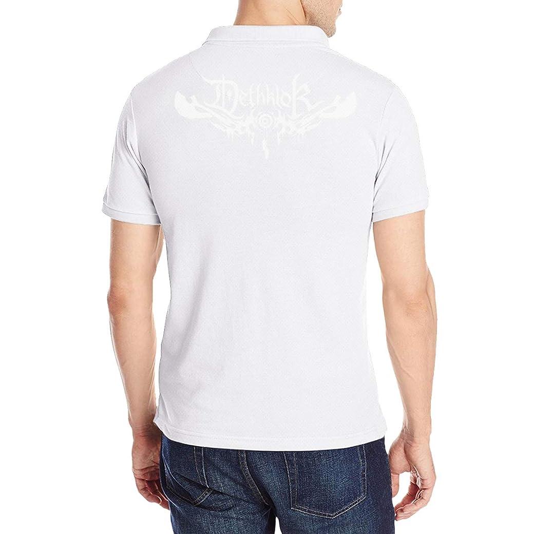 探す満員スペースDethklok デスクロック ポロシャツ メンズシャツ 半袖 無地 スリムフィット 通気性 薄手 スキッパー Tシャツ ゴルフシャツ カットソー アウトドア シンプル 春夏季対応トップス Polo Shirts