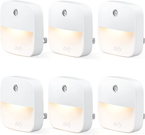 high quality eufy by Anker, Lumi Plug-in Night Light, Warm online White LED, Dusk-to-Dawn Sensor, Bedroom, Bathroom, new arrival Kitchen, Hallway, Stairs, Energy Efficient, Compact, Light 6-Pack online sale