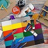 Artina Crylic 6 x 120ml Acrylfarben Set 6 Farben (720ml) – Primärfarben in Künstler-Qualität - 7