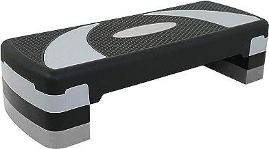 Unisex Volwassen Aerobic Stepper voor thuis Oefening -EM-9230 Aerobic Stepper - Zwart/Grijs, L 80 x B 31 x H 20