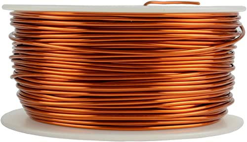 TEMCo 18 AWG Copper Magnet Wire - 1 lb 199 ft 200°C Magnetic Coil Winding