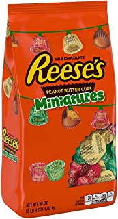 REESE'S Chocolate Peanut Butter Cups Miniatures Candy, Perfect for Holiday Gift Baskets, 36 Ounce