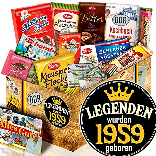 Legenden 1959 ++ Geschenke 60. Geburtstag ++ Ossi Paket Schokolade L