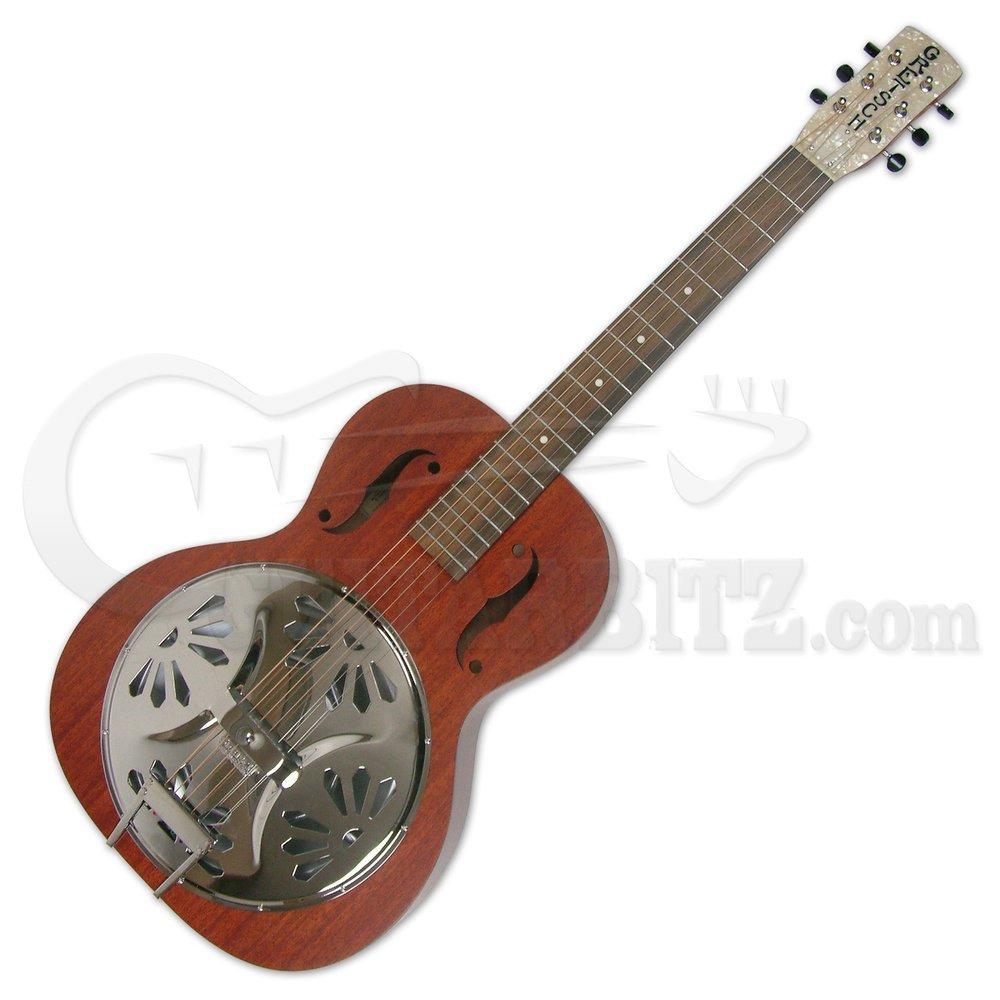 G9200 Boxcar Round Mástil Guitarra Resonadora estándar: Amazon.es ...