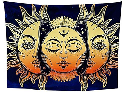 asdas Tapestry,Mandala Impression Art India 3D Printing Sun Polyester Ocean Decoration Wave Picnic Blanket Dormitory Living Room Bedroom Study Room Window Wall,Sun,250X150Cm