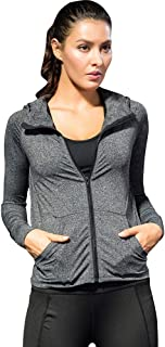 Andoer Women Full-zip Hooded Jackets Sport Hoodie Raglan Long Sleeves Pockets Workout Running Exercise Gym Tra-ck Sweatshi...