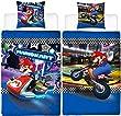 Kinder Wende-Bettwäsche Super Mario Kart 135 x 20