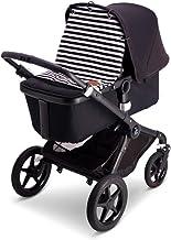 Baby Wallaby Parasol para la mayoría de cochecitos, carritos y carros, toldo para el sol, accesorios para bebé, 52 x 57 cm (rayas blancas y negras).