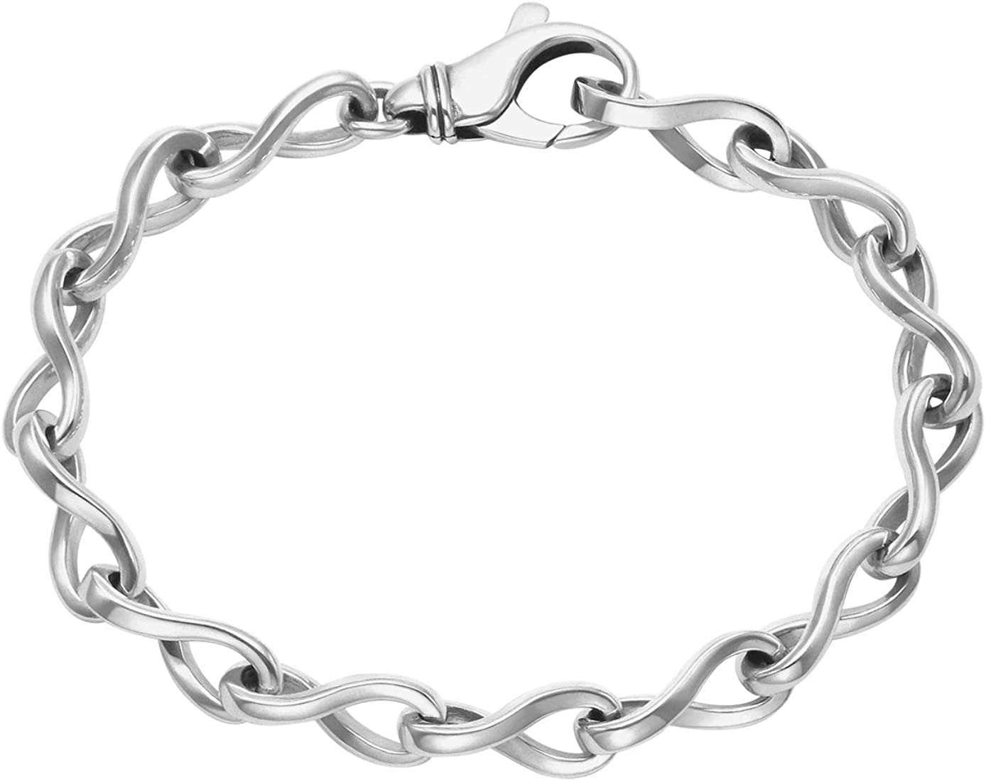 Wild Things Max 85% OFF Indefinitely Men's Sterling Silver Open Oval Twisted Links Bracel