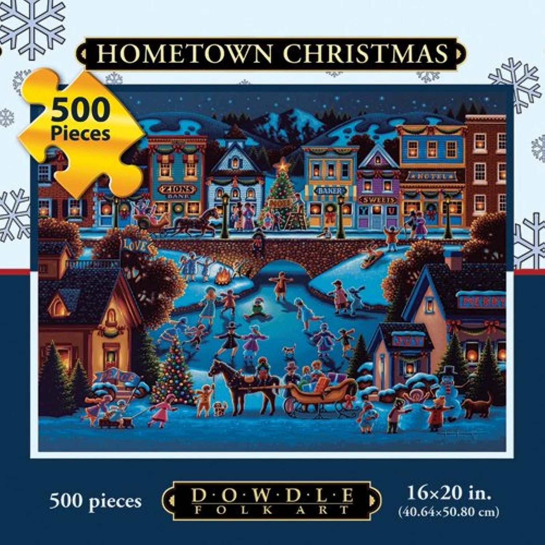 Dowdle Folk Art Hometown Christmas 500pc 16x20 Puzzles