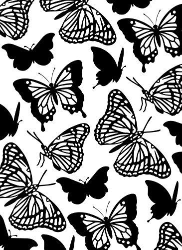Darice Embossing Folder Cartella per Goffratura Mascherina Farfalle, 10.8x14.6x0.3 cm