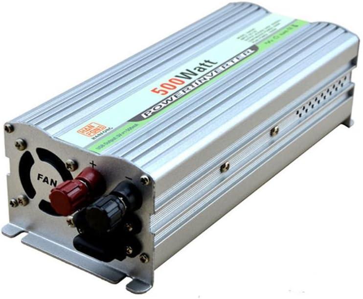 Inversor@Inversor,Power Inverter DC 12V a la fuente de alimentación del inversor del convertidor de la energía de la CA 220V (plata 500W)