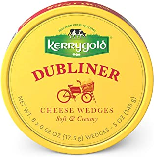 Kerrygold Spreadable Dubliner Triangles, 5 Ounce All-Natural Irish Cheese Made with Milk from Grass-Fed Cows