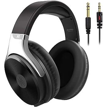 OneOdio Kopfhörer Over Ear mit Kabel, Geschlossener HiFi Stereo Kopfhörer mit Mikrofon, Share Port, Adapter-frei 6.35 auf 3.5mm Klinke,weiche Ohrpolster für Musik Handys iPad Laptop PC MP3