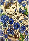 Puzzle de madera para adultos 1000 piezas, gato de flores Tangram Puzzle Ocio Juego creativo Juguete Q