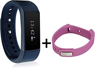 ELEGIANT Smart Bracelet, I5 Plus Waterproof Bluetooth 4.0 Sports Bracelet Pedometer Tracking Calorie Health Wristband Sleep Monitor for Samsung Andriod Smart Phones + Sports Bracelet Band