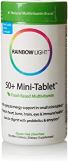Rainbow Light 50 Plus Mini Tab Age Defense Formula - 180 per Pack - 2 Packs per case.