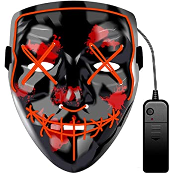JCT Halloween LED Máscaras Purga Grimace Mask Horror Mask Scary ...