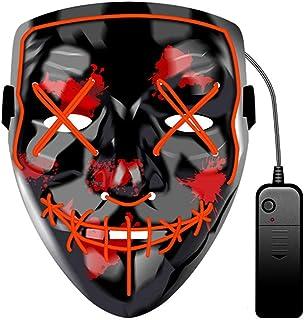 JCT Halloween LED Máscaras Purga Grimace Mask Horror Mask