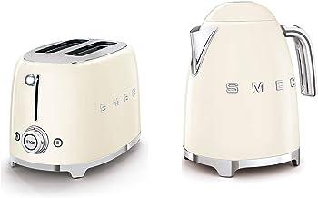 SMEG 2-Slice Toaster & 1.7-Liter Kettle in Cream