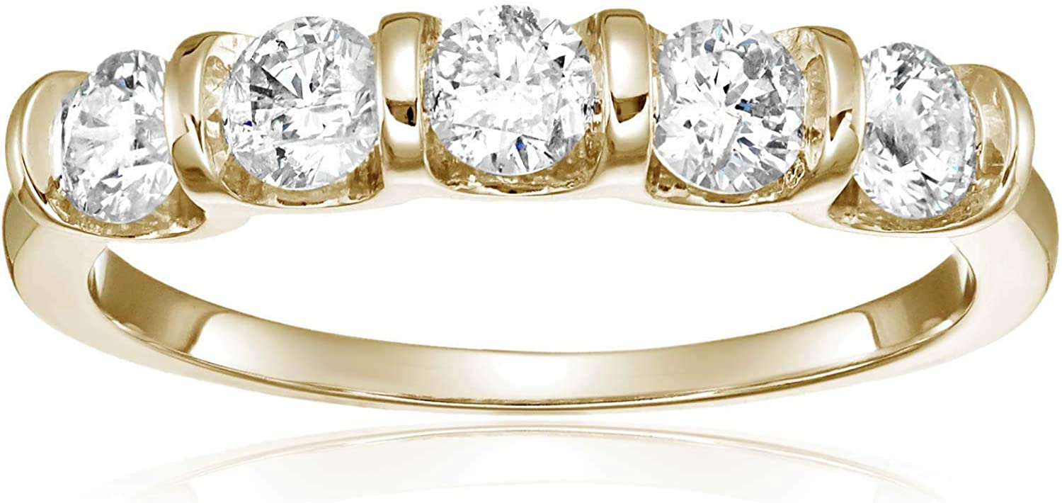 Vir Jewels 1 cttw Certified Popular popular I1-I2 67% OFF of fixed price Channel Stone 5 Ring Diamond