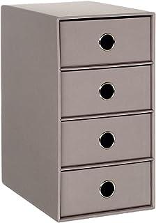 Rössler 1524452494 S.O.H.O. Boîte de rangement 4 tiroirs (Gris) (Import Allemagne)