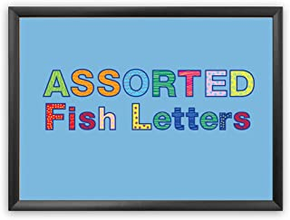 Hygloss Products Bulletin Board Letters and Numbers – Punch Out Assorted Fish Design – 3 Inch, 350 Pieces