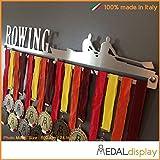 MEDALdisplay Rowing | Porta medaglie Canottaggio/Medagliere da Parete Medal Hanger (750 mm x 115 mm x 3 mm)