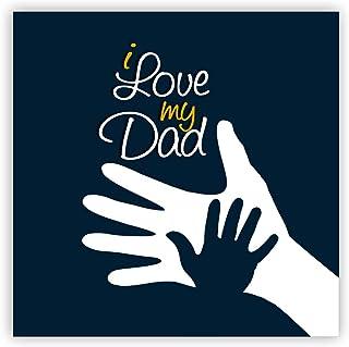 TheYaYaCafe I Love You My Dad Fridge Magnet - Square