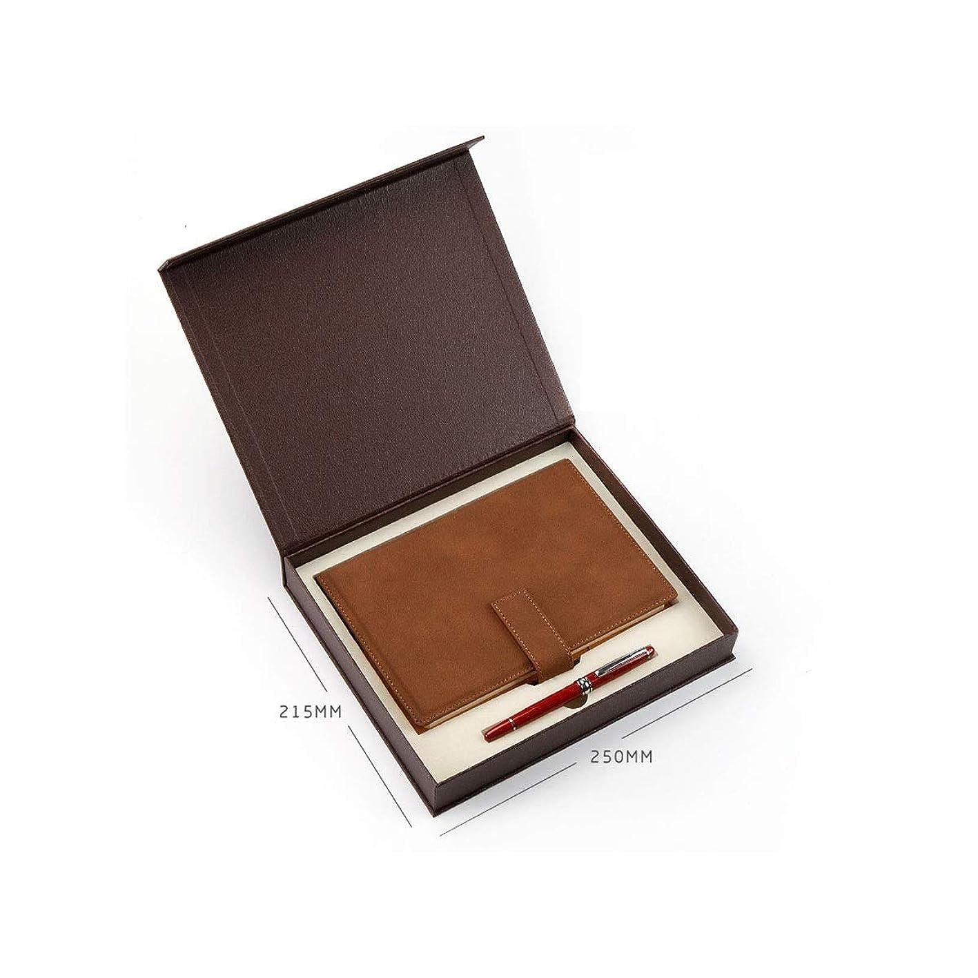 Kuqiqi ギフトノートとペンセットギフトボックス、ノートブックセット、父の日ギフト、メモ帳、ビジネスノート、簡単な大学生のノート、日記、事務用品、ビジネス会議のノート、複数の色 高品質の製品 8 (Style : H)