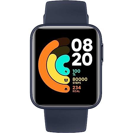 【日本正規代理店品】Xiaomi Mi Watch Lite スマートウォッチ 着信通知 スマートスポーツウォッチ 腕時計/活動量計/歩数計/心拍計 5ATM防水 連続9日間使用 GPS&GLONASS搭載(ネイビーブルー)